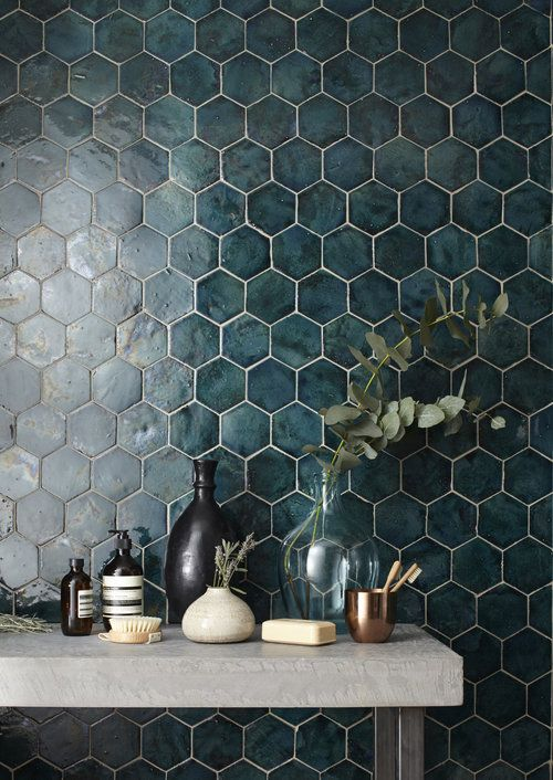 Hexagonal moroccan tile from London Encaustic.